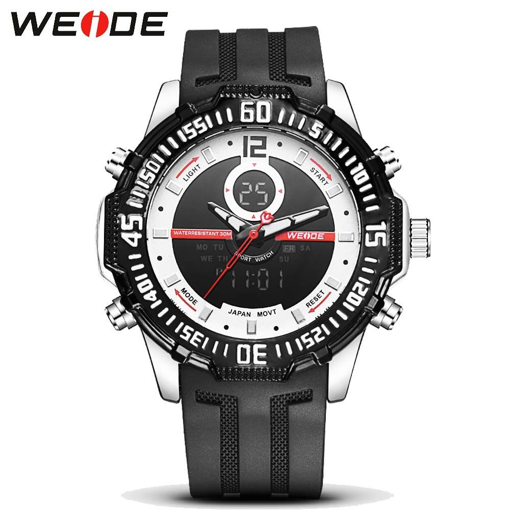 ФОТО Weide Orologi Fashion Watch Men Waterproof LED Sports Military Watch Shock Men's Analog Quartz Digital Watch relogio masculino