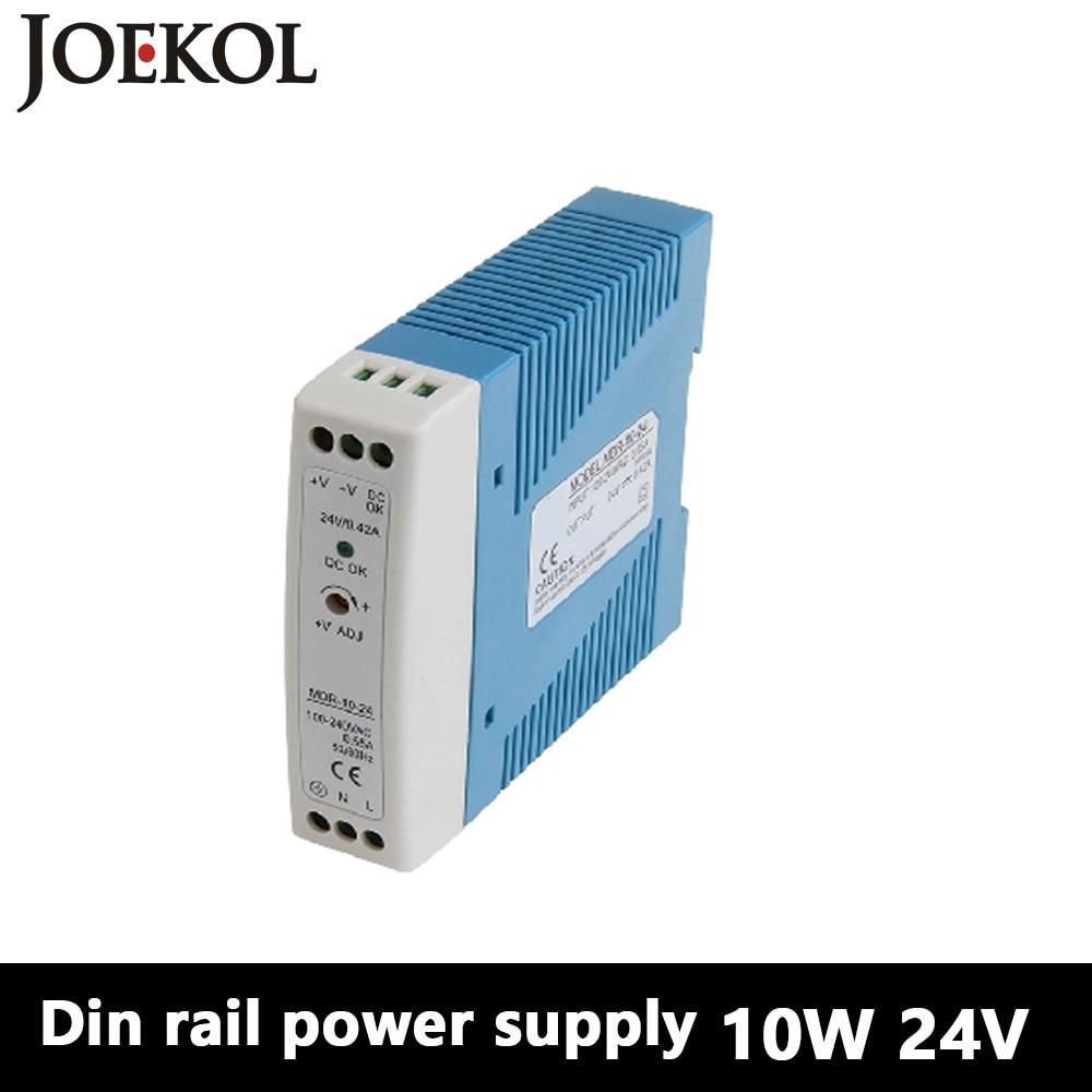 MDR-10 Din Rail Power Supply 10W 24V 0.42A,Switching Power Supply AC 110v/220v Transformer To DC 24v,ac dc converter