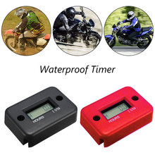 Portable Digital Tach Hour Meter Tachometer Gauge LCD for Gas Engine Snowmobile ATV Motorcycle Bike