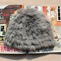Hot Item Women Winter Warm Braided Crochet Fluffy Rabbit Fur Knitting Hat Girl Beret Ski Beanie Ball Cap for gift