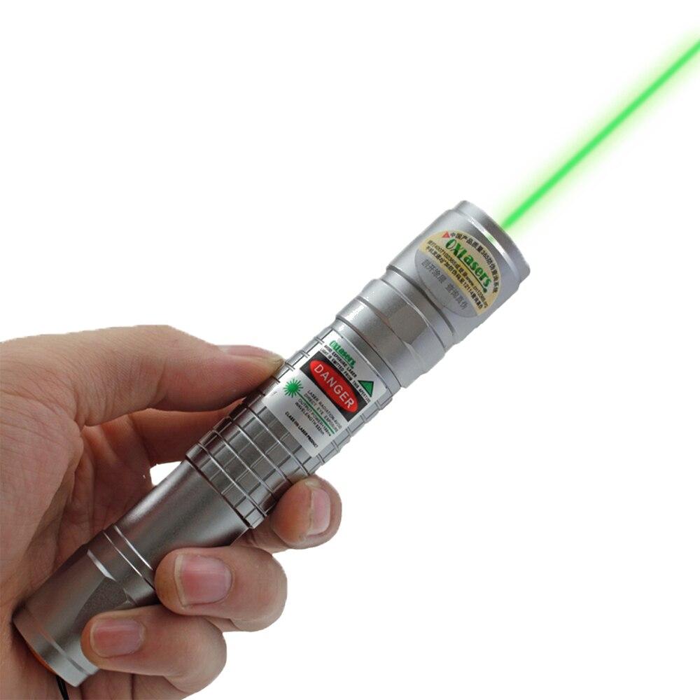 OXLasers OX-G40 Powerful 200mW focusable green laser pointer flashlight / burning laser torch +5 star caps BURN matche free ship