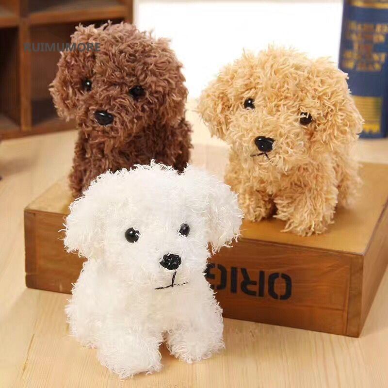 Quality 3Colors - Dog Plush Toys - 10CM height , Kid's Gift Plush Stuffed Dog toys , key chain Dog Plush dolls(China)