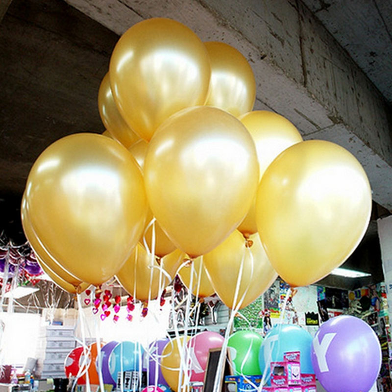 gold pearl helium balloons 20pcslot 28g 12inch hot selling wedding birthday bridal shower