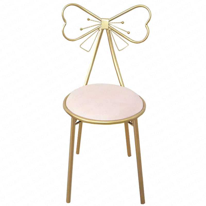 Modern Minimalist Dining Room Chair Princess Girl Heart Dressing Table Chair Nordic Back Net Red Makeup Chair European ChairModern Minimalist Dining Room Chair Princess Girl Heart Dressing Table Chair Nordic Back Net Red Makeup Chair European Chair