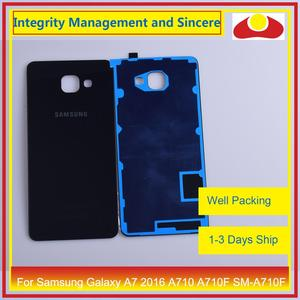 Image 3 - Original For Samsung Galaxy A7 2016 A710 A710F SM A710F Housing Battery Door Rear Back Cover Case Chassis Shell Replacement