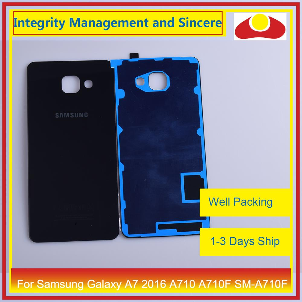 Image 3 - Оригинальный Для Samsung Galaxy A7 2016 A710 A710F SM A710F корпус батарея Дверь задняя крышка корпус Корпус Замена-in Корпуса и рамки для мобильных телефонов from Мобильные телефоны и телекоммуникации
