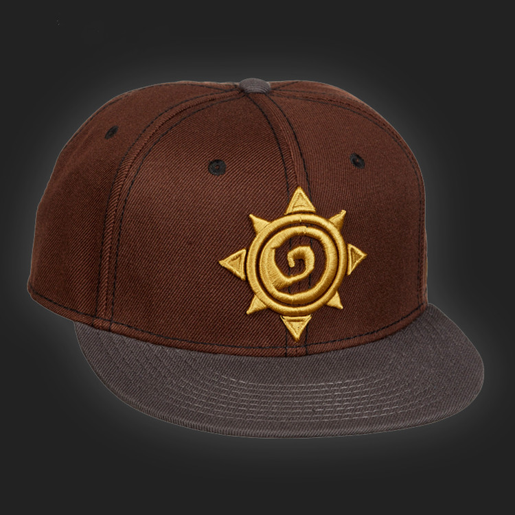 hearthstone embroidered adjustable hat font deep brown baseball extra caps crown hats high