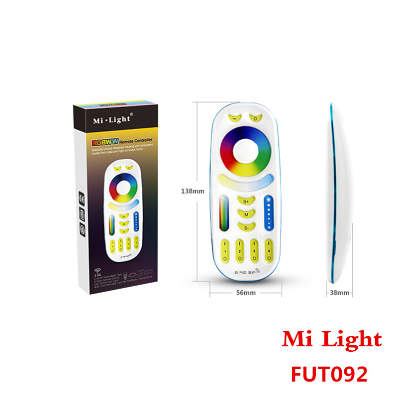 Mi Light 2.4GHz 4 Zone RGB+CCT Remote Controller <font><b>FUT092</b></font> With Luminous For All Mi-Light CCT+RGB and Dimming Bulb /LED Controller image