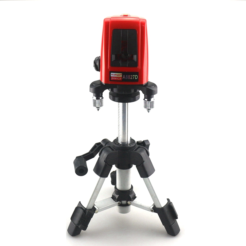 ACUANGLE A8827D Laser Level 635nm 3 Cross Red Line 360 Degree Rotary Self-leverling Laser Leveler Tools Automatic Tripod linvel lv 8827 3 gold