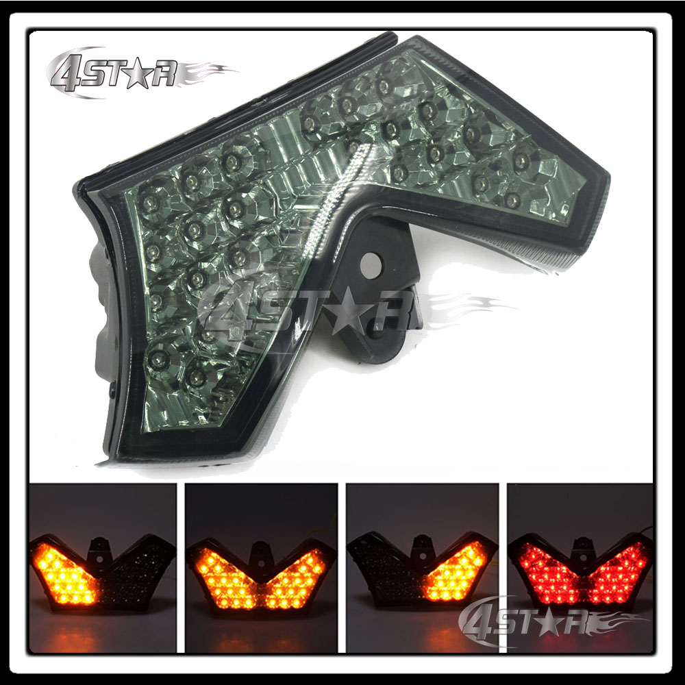 Somke LED Rear Turn Signal Tail Stop Light Lamp Integrated Brake Light For Ninja ZX14R Z ...
