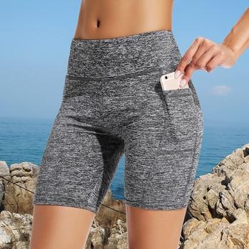 Summer High Waist Shorts Women Fashion Push Up Shorts Workout Short Feminino Solid Color Skinny Women Shorts Drop Shipping