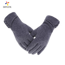 Elegant Plush Women Gloves Autumn Winter for Fitness Guantes Mujer PhoneTouch Screen Wrist Mittens Heated Gloves