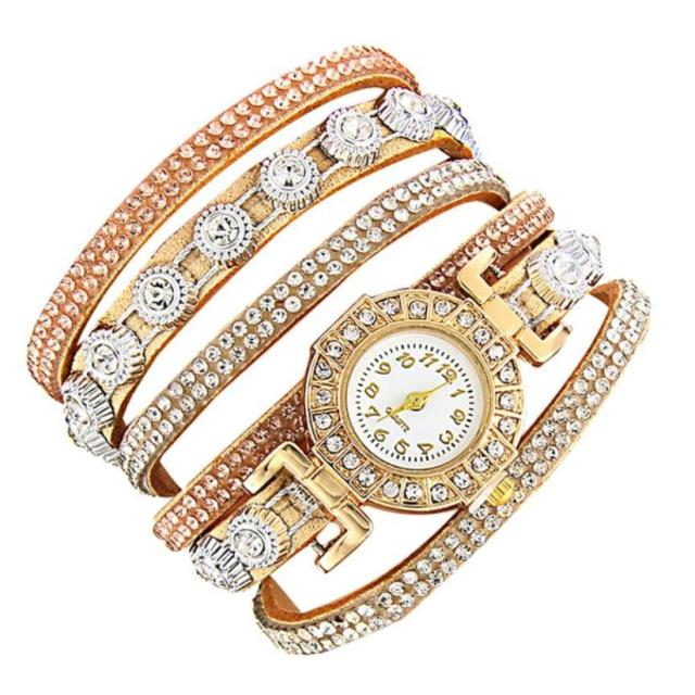 Women Fashion Casual Analog Quartz Women Rhinestone Watch Bracelet Watch limited