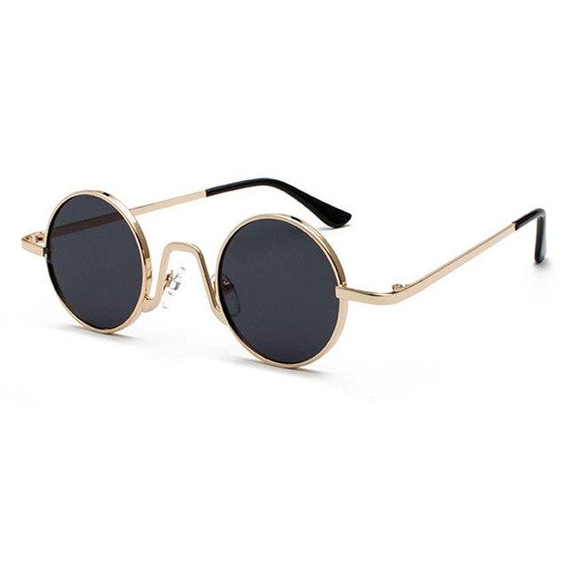Rodada do vintage Óculos De Sol Da Marca Design Mulheres Homens Óculos De Sol De Luxo Retro Uv400 Eyewear Tons Da Moda