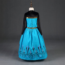 New Elsa Anna Full Dress With Crown