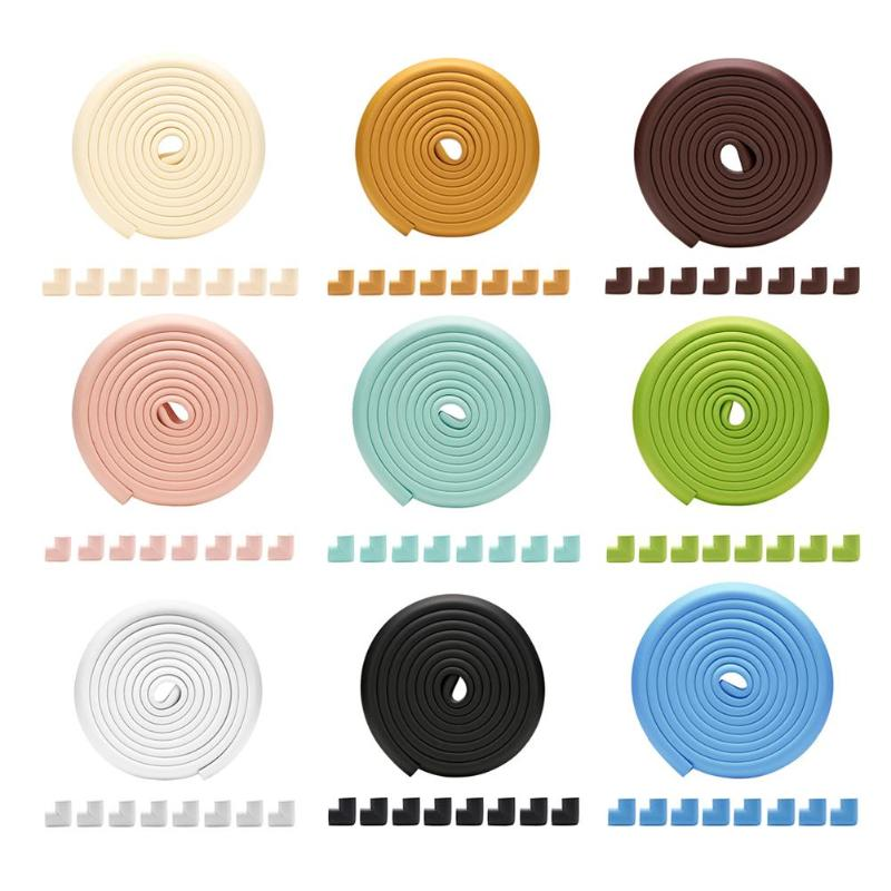 5M Baby Safety Corner Protection Kids Table Guard Strip Soft Thicken Desk Edge Protective Strip Cushion Corner Protector Cover