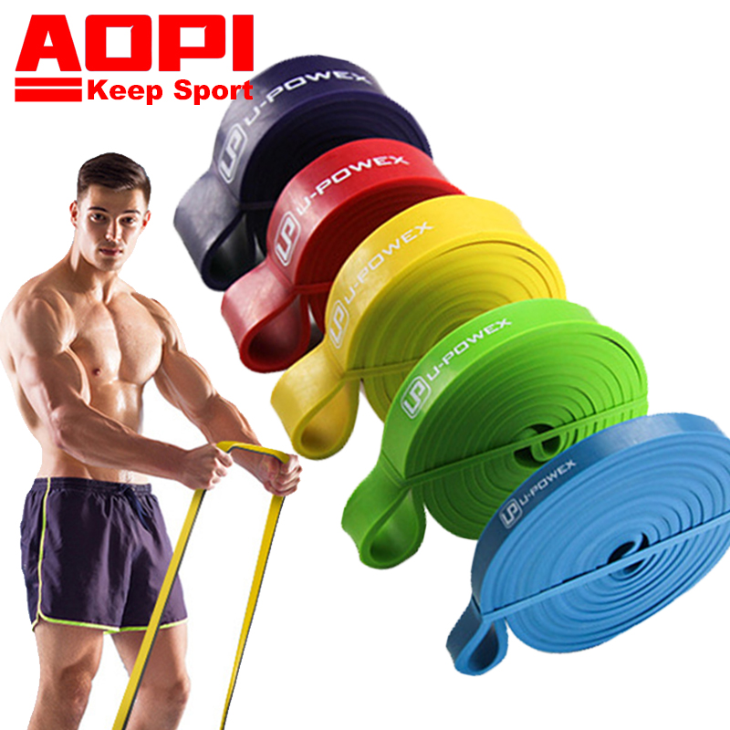 AOPI Resistance Band Pull Up 208CM 82 Sport Elastic Band Workout Band Yoga Rubber Loop Band 5 Levels Strengthen Muscles Fitness