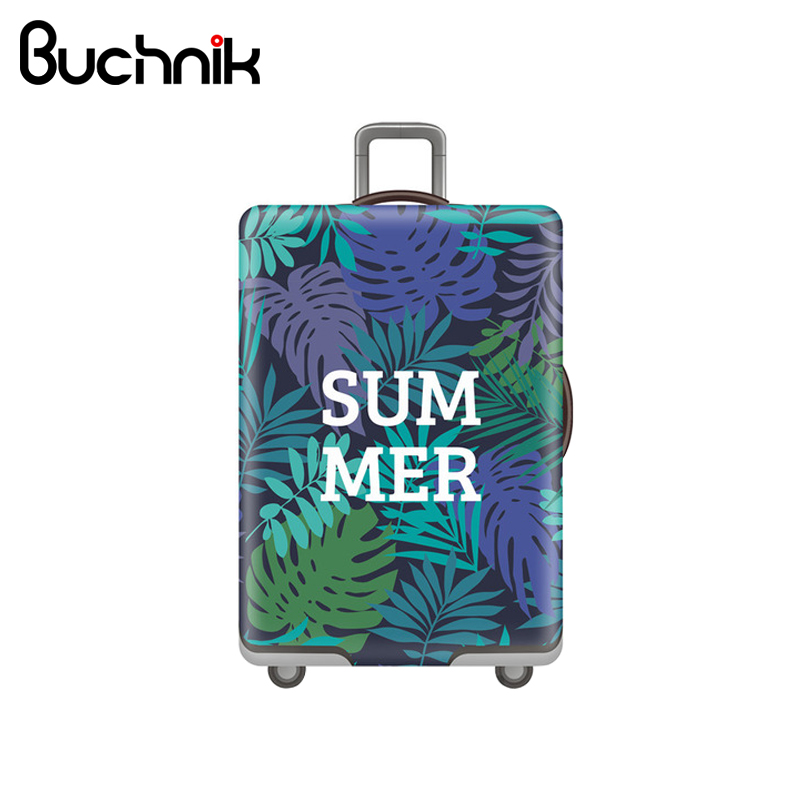 Tropical Leaves Elastic Luggage Cover Letter Trolley Suitcase Protect Dust Case Women's Men's Travel Accessories Supplies tropical leaves print tapestry wall hanging art