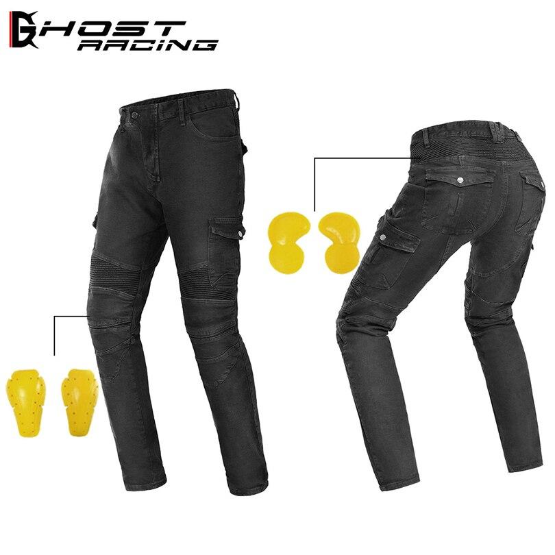 Fantôme course moto rradjeans moto rcycle calcas homme komine moto jeans moto cicleta équitation locomotive chevalier anti-chute pantalons décontractés