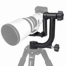 Новый Профессиональный Алюминиевый Gimbal Штатива Для Тяжелых Телеобъектив Камеры DSLR 360 Панорамный Поворотный Штатив Головы до 10 КГ