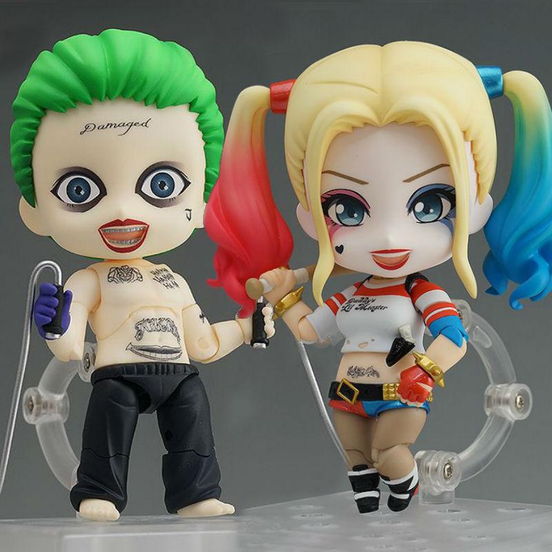 Nendoroid Suicide Squad Joker 671 Figure 672 Harley Quinn PVC Action Figure Toys