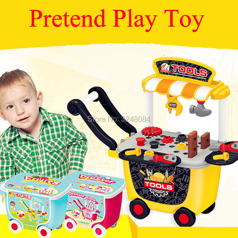 New 5 Types 1 Pcs/Set Pretend Play Kitchen Toy Tool Set Dresser Pizza Fruit Cut Checkout