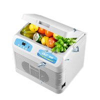 12L Mini Fridge for Car Auto Clamshell Freezer Portable Refrigerator Cooler With Handle Insulin Refrigeration Heater Household