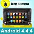 Автомобильный dvd vw android 4.4 двойной дин gps-навигация Wi-Fi + Bluetooth + Радио + Quad core 4 CPU DDR3 емкостный Сенсорный Экран ПК Автомобиля Стерео