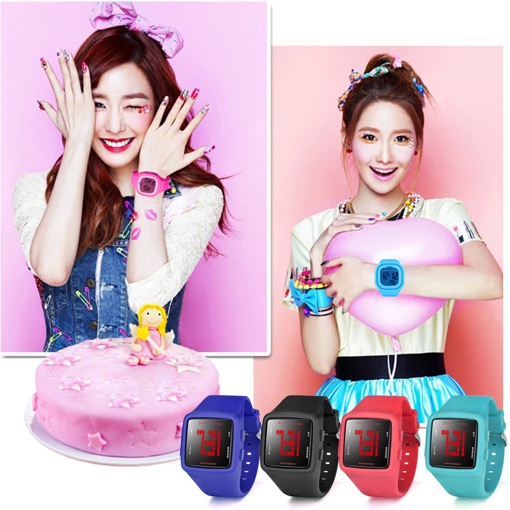 Women Waterproof Watch LED Digital Sports Watch Girls Silicone Square Wristwatch Relojes Hombre Vintage Relogio Feminino Masculi