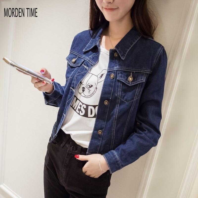 New Autumn Spring Short Jean Jacket Womens Fashion Cappotto Donna Women Jacket M316