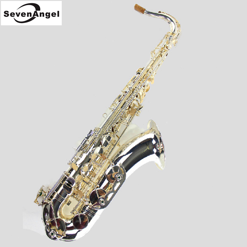 Tenor Saxophone Bb Sax Wind Instrument Pure Silve Surface Sax Western Instruments  Tenor saxofone Musical Instruments saxophone bb f tenor trombone lacquer brass body with plastic case and mouthpiece musical instruments