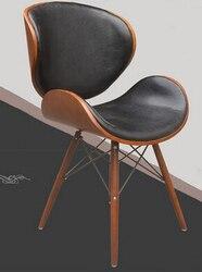 De computer stoel. ergonomische hoge terug lifting personeel. massief houten stoel stylist