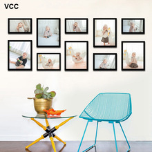 10 Pcs Classic Photo Frame For Wall Hanging Home Decor Wedding Couple Recommendation Black White Pictures Frames