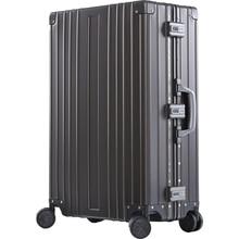 цена на SEABIRD 20 26 29 inch Luxury Aluminum Magnesium Alloy Trolley Luggage Men Business Full Metal Suitcase Women Travel Case