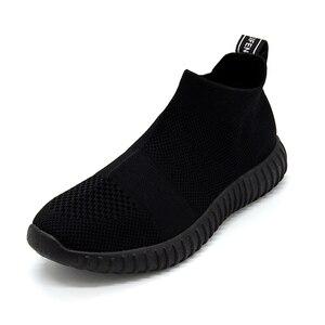 Image 1 - Zapatos de fondo suave para mujer, zapatillas de deporte transpirables de malla antideslizantes informales a la moda