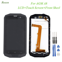 Roson Original AGM A8 LCD Display and Touch Screen 5.0 Digitizer With Frame Assembly Repair Parts for AGM A8