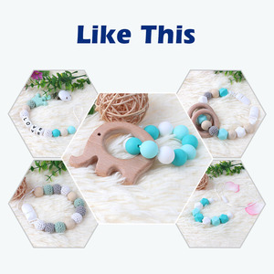 Image 5 - TYRY.HU 500PCS Silicone Letters Personalized Name Pacifier Clips Beads  BPA FREE Silicone Dummy Holder Accessories
