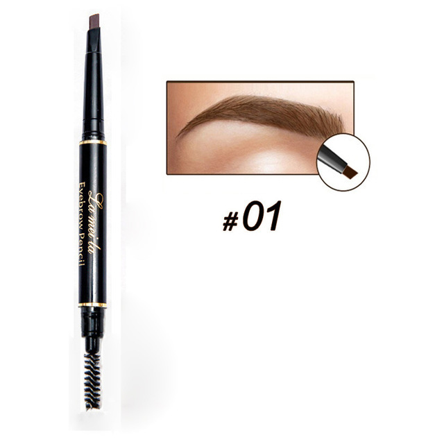 Professional Double-end Eyebrow Pencil Makeup Waterproof Eyebrow Black Brown Natural Eyebrow Pen with Brush Make Up Cosmetics 5