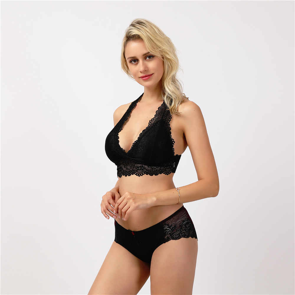 5ddb64ec8e ... Women Bralette Vest Bra Sexy Lace Bra Ladies Underwear Padded  Breathable Wire Free Intimates Brassiere Lingerie ...