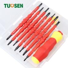 TOUSEN 7PCS magnetic screwdriver bit set bity screwdrivers bits hex screw phillips torx driver schroef bitset T10 PH0 PH2 PH1