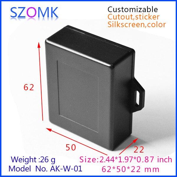 Cajas plásticas del ABS de la caja del proyecto para la electrónica (5  unids) 62 50 22mm eléctrica recinto 14a431708738