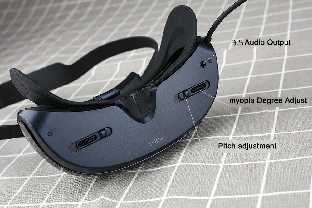 9d9737859abd Hispot H2 3d Vr glasses creatively added the adjustment of myopia degree  and the adjustment of the distance of the eye