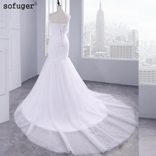 2019 Hot Sale Sexy Tulle Strapless Trumpet Mermaid Wedding Dresses Cheap Beach Bridal Dress Vestidos de Noivas With Lace Up Back