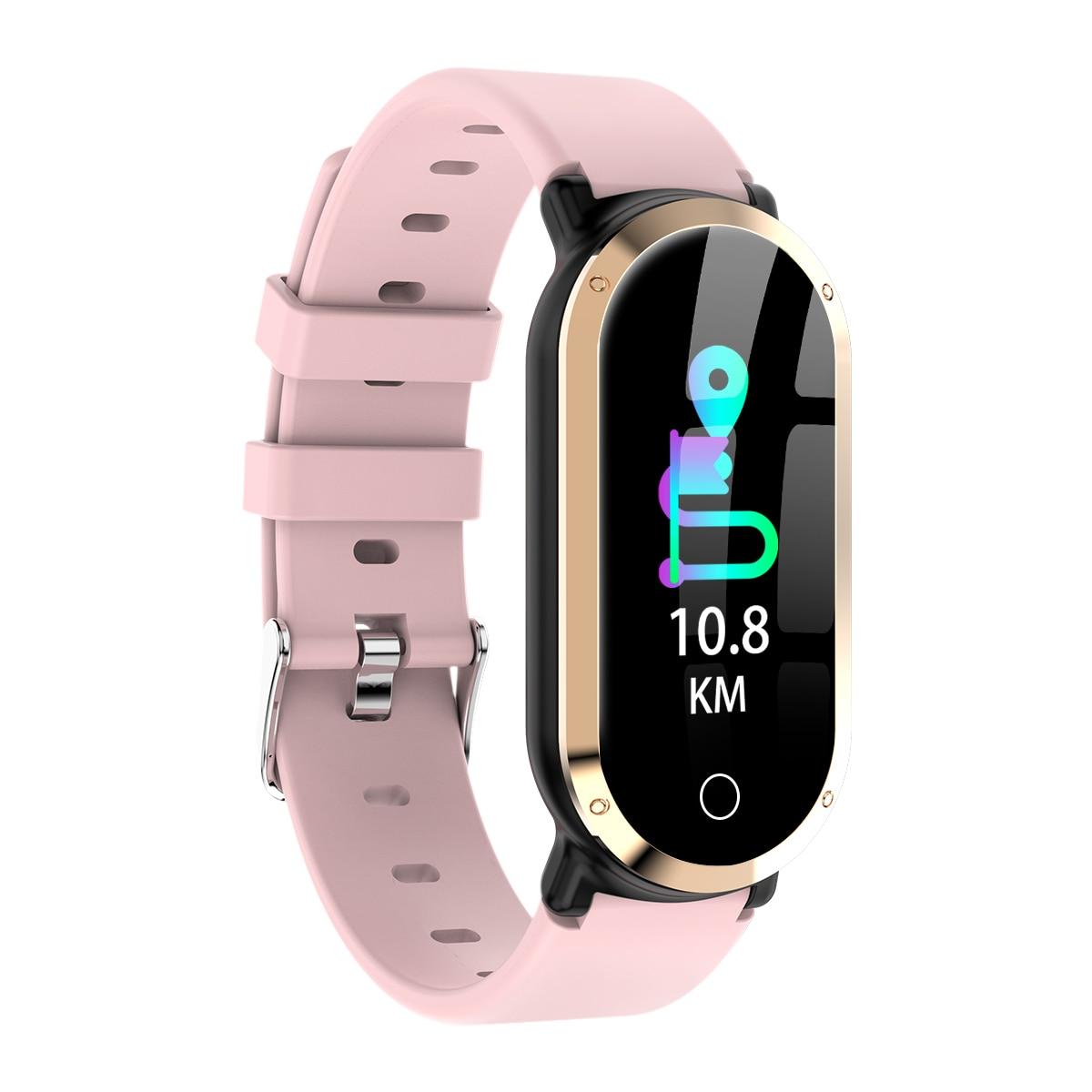 Uhoofit T1 reloj inteligente mujer impermeable reloj Monitor de ritmo cardíaco sangre presión Fitness Tracker hombres Smartwatch para Android IOS