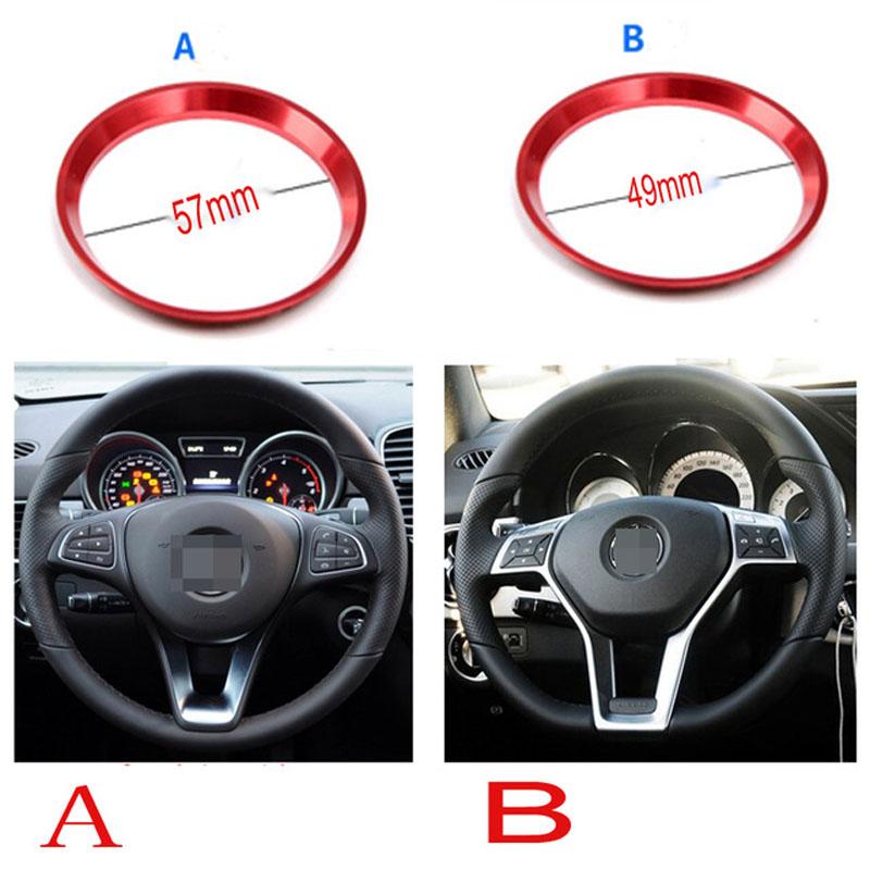 Carbon Fibre 45mm Car Steering Wheel Emblem Badge Logo Sticker Mercedes CLA GLA