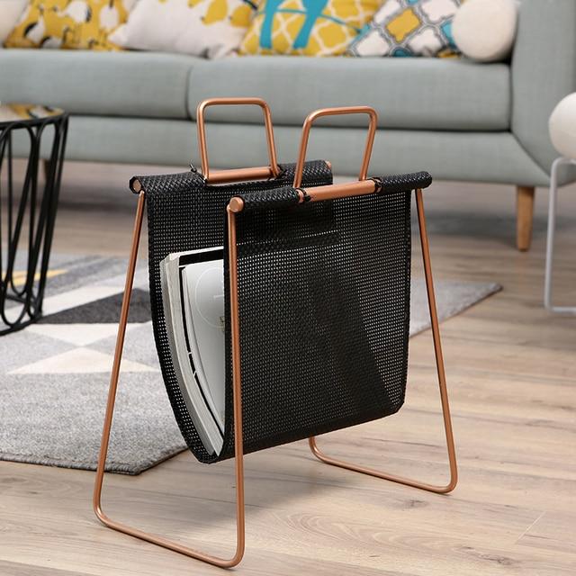 Minimalist Modern Design Living Room Floor Standing Magazine Rack Book Organized Shelf Storage