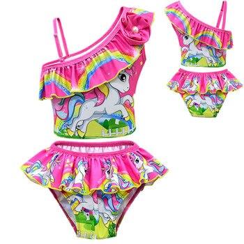 Baby-Girls Unicorn Bikini Swimwear