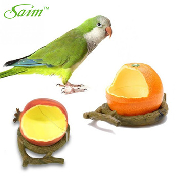 Saim Birds Feeder Parrot Birds Hamsters Feeder Food Container Plastic Fruit Shape Cup Food Bowl Drinkers Bowl for Birds Supplier 1