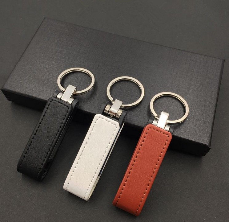 Hot Sale New Arrival  PU Leather 32gb 64gb 8gb 16gb Usb 2.0 Flash Driver 64gb Pen Drive U Disk Pendrive Flash Drive Top Quality