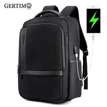 Men's Business Multifunction Waterproof USB Charging Backpack Professional 14 inch Laptop Bag Men Casual Travel Bags Back Black фото